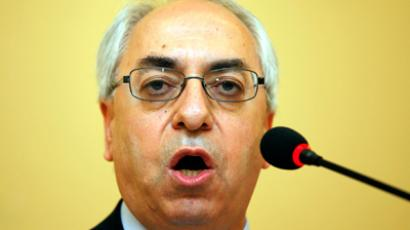 The new president of the Syrian National Council Abdulbaset Sieda speaks during a news conference in Istanbul June 10, 2012 (Reuters/Osman Orsa)