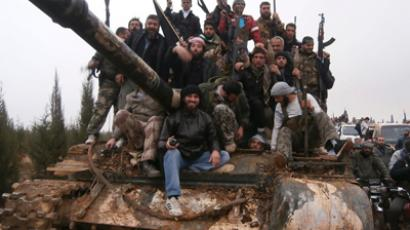 Free Syrian Army fighters on November 19, 2012 (Reuters / Shaam News Network / Handout)