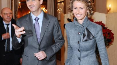 Bashar Assad and wife Asma (AFP Photo / Miguel Medina)