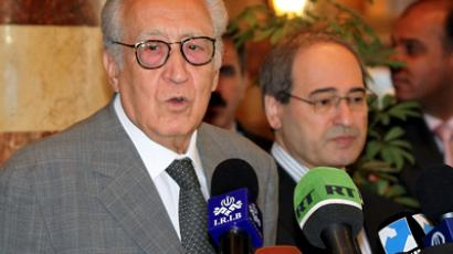 International peace envoy Lakhdar Brahimi. (AFP Photo)