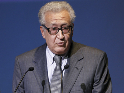 Lakhdar Brahimi (AFP Photo / Patrick Kovarik)