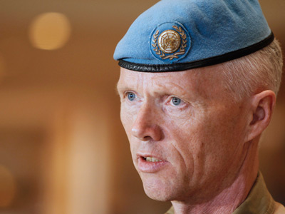 The UN mission chief in Syria Major General Robert Mood (AFP Photo / Louai Beshara)