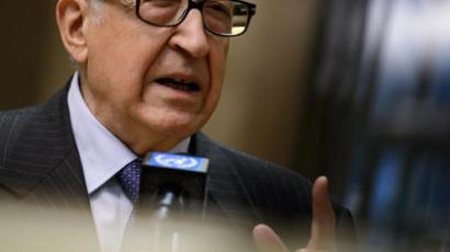 International peace envoy for Syria Lakhdar Brahimi.(AFP Photo / Fabrice Coffrini)