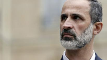Syrian opposition chief Ahmed Moaz al-Khatib. (AFP Photo / Kenzo Tribouillard)