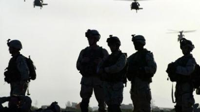 American soldiers wait to board helicopters at Kandahar.(AFP Photo / Kamal Kishore)