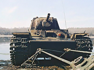 WWII tank to leave refuge in Neva River