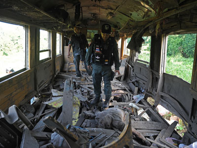 Two killed, more than a dozen injured after train ambush in southern Thailand