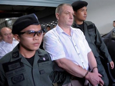 Charges dropped against arms plane crew in Thailand