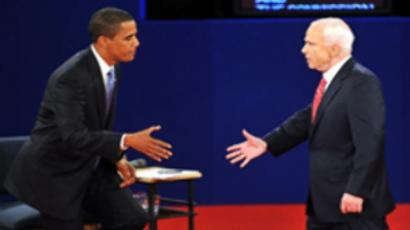Barack Obama (L) and John McCain (AFP Photo / Paul J. Richards)