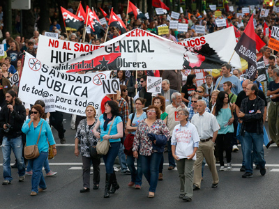 Several thousand march against austerity in Madrid (PHOTOS)