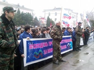 Thousands gather for spontaneous anti-terrorism rallies in Dagestan