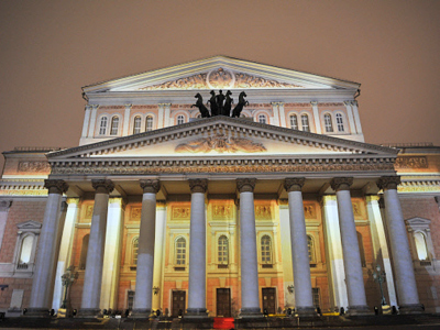 Bolshoi Theatre facade in Moscow (RIA Novosti / Ramil Sitdikov)
