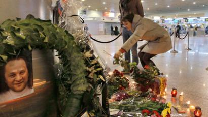 Mourning for victims of the Domodedovo Airport blast. RIA Novosti / Vitaliy Belousov