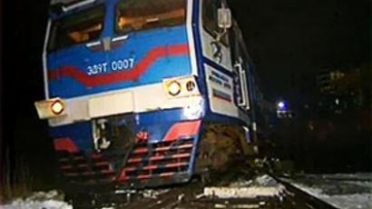 Train crashes into truck