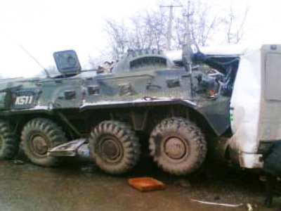 Two killed, five injured in Chechen crash