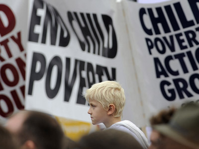 UK Child Poverty set to soar as spending cuts bite