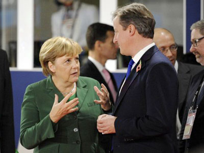 Berlin rebukes 'greedy Brits' in battle for Europe's future