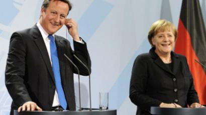 David Cameron and Angela Merkel (AFP Photo / Odd Andersen)