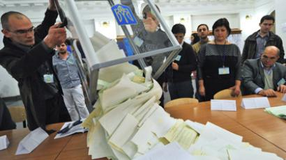 Counting votes in Ukraine parliamentary elections (RIA Novosti / Alexey Kudenko)