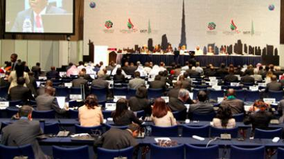 Delegates at the first morning session of WCIT 2012, Dubai U.A.E., 3-14 December 2012 (Photo from flickr/itupictures)