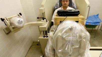 A man in the Fukushima region undergoing medical screening. (Reuters / Kim Kyung Hoon)