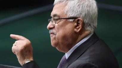Mahmoud Abbas, Chairman of the Executive Committee of the Palestinian Liberation Organization and President of the Palestinian Authority addresses the UN General Assembly.(AFP Photo / John Moore)