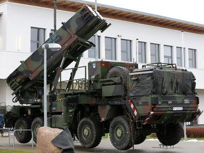 A patriot missile launcher in Bad Suelze.(AFP Photo / Bernd Wustneck)