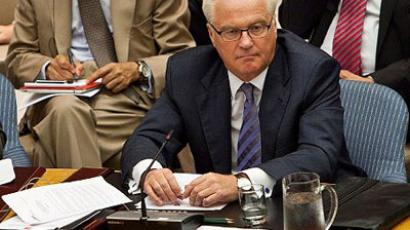 Vitaly Churkin, permanent representative of the Russian Federation to the United Nations (Andrew Burton/Getty Images/AFP)