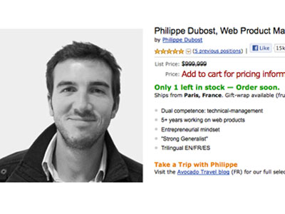 Amazon job hunt: Frenchman's creative CV goes viral