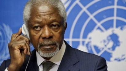 Arab League Special Envoy for Syria, Kofi Annan (AFP Photo / Sebastien Bozon)