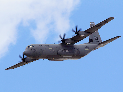 A US Air Force (USAF) Lockheed Martin C-130J Super Hercules aircraft (Reuters/Gonzalo Fuentes)