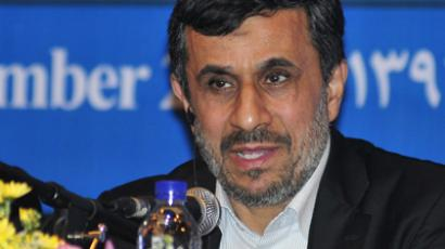 Iranian President Mahmoud Ahmadinejad speaks during a news conference in Nusa Dua, Bali on November 8, 2012. (Reuters)