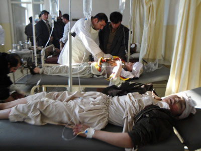 AFGHANISTAN hospital.  (AFP PHOTO / STR )