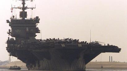 The US aircraft carrier USS Enterprise (Reuters/Aladin Abdel Naby)