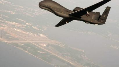 Undated file photo courtesy of the U.S. Navy shows a RQ-4 Global Hawk unmanned aerial vehicle conducting tests over Naval Air Station Patuxent River, Maryland. (Reuters/U.S. Navy/Erik Hildebrandt/Northrop Grumman/Handout)