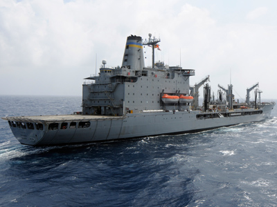 USNS Rappahannock. Fleet tankers or replenishment oilers are naval auxiliary ships with fuel tanks and dry cargo holds, which can replenish other ships while underway on the high seas (AFP Photo / US Navy / Cale Hatch)