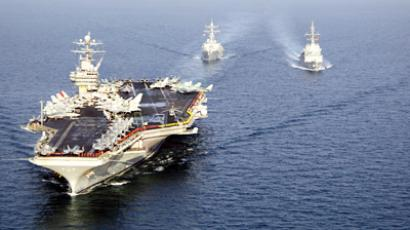 US Sixth Fleet in the Mediterranean Sea in movement order
