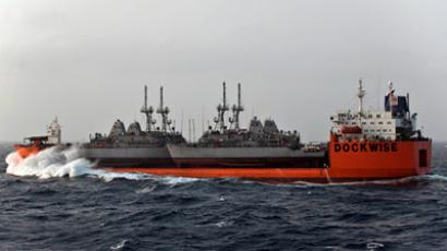 MANAMA, Bahrain — Four U.S. Navy mine countermeasures (MCM) ships arrived in the U.S. 5th Fleet area of operations aboard M/V Tern, June 23. (Photo: U.S. Navy)