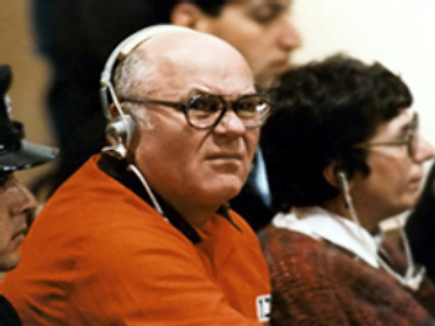Demjanjuk during the trial in Israel