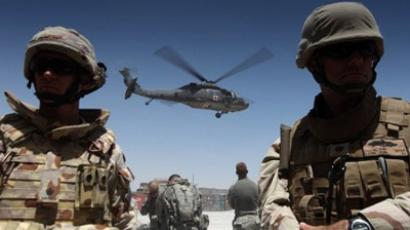 A medevac helicopter lifts off from Camp Nathan Smith in Kandahar. A decade of war costing thousands of lives and hundreds of billions of dollars has left Afghanistan with a corrupt government, a widely criticised Western troop presence and only dim prospects for peace (AFP Photo)