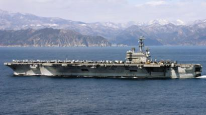 US Navy, the aircraft carrier USS Ronald Reagan off the coast of Japan. (AFP Photo / US Navy)
