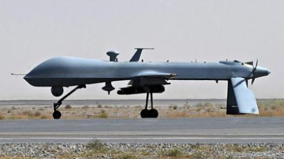 A U.S. Predator unmanned drone armed with a missile. (Reuters / Massoud Hossaini / Pool)
