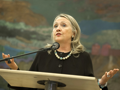 US Secretary of State Hillary Clinton. (AFP Photo / Saul Loeb)