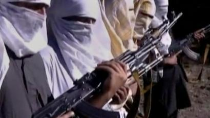 Pakistani Taliban fighters hold weapons as they receive training in Ladda, South Waziristan tribal region, in this still image taken from a video (Reuters / Reuters TV)