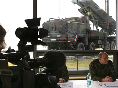 "The ""Patriot"" surface-to-air missile system is presented during a media day by the German Armed Forces in Warbelow, northern Germany, on December 18, 2012. (AFP Photo / Bernd Wustneck)"