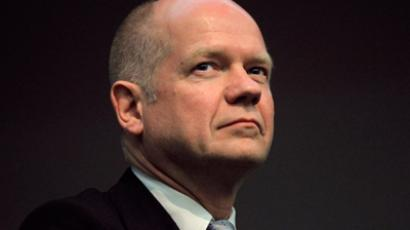 British Foreign Secretary William Hague. (Reuters / Mike Hutchings)