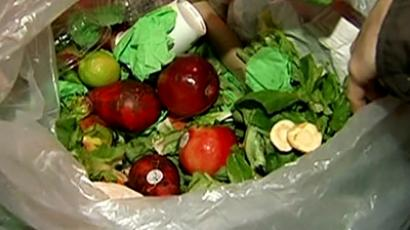In USA, almost as much food as is consumed is being dumped in the trash every day