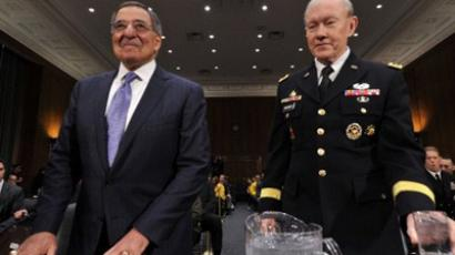 US Secretary of Defense Leon E. Panetta (L) and Chairman, Joint Chiefs of Staff Gen. Martin E. Dempsey prepare to testify at a hearing of the Senate Armed Services Committee on March 7, 2012 on Capitol Hill in Washington, DC (AFP Photo / Karen Bleier)