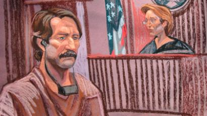 US, New York: This courtroom sketch shows Viktor Bout(L) at Federal court with Judge Shira Scheindlin. (AFP Photo / Christine Cornell)