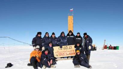 Team of the 57th expedition to Vostok Antarctic research station (Photo from aari.nw.ru)